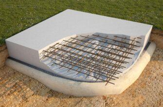 Монолітний плитний (плаваючий) фундамент